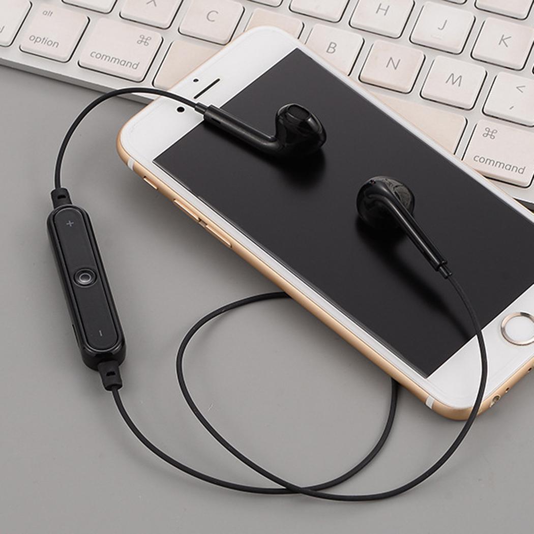 Bluetooth Wireless In-Ear Stereo Earphones Sports Running Gym Neckband Headphone with Mic DEAML