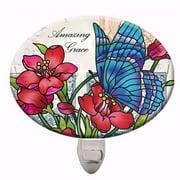 Night Light-Butterfly Post/Amazing Grace (4.5 x 3.375)