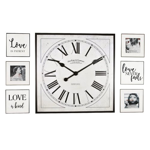 FirsTime 7 Piece Frame Gallery Wall Clock Set