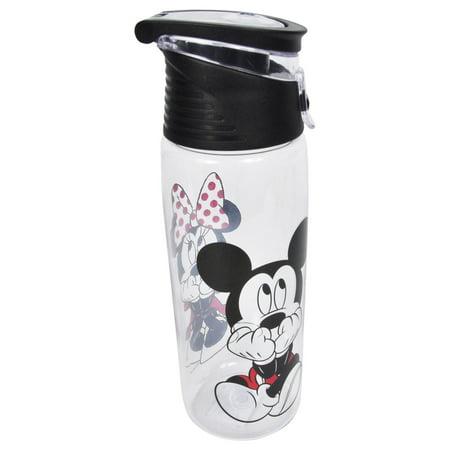 Disney Mickey & Minnie Flip Top Water Bottle BPA-FREE - Minnie Mouse Water Bottle