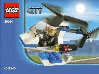 Lego, City Police Helicopter Bagged (30014) by