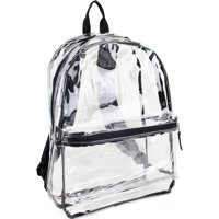 Eastsport Clear Backpack with front Pocket and Adjustable Padded Shoulder Straps