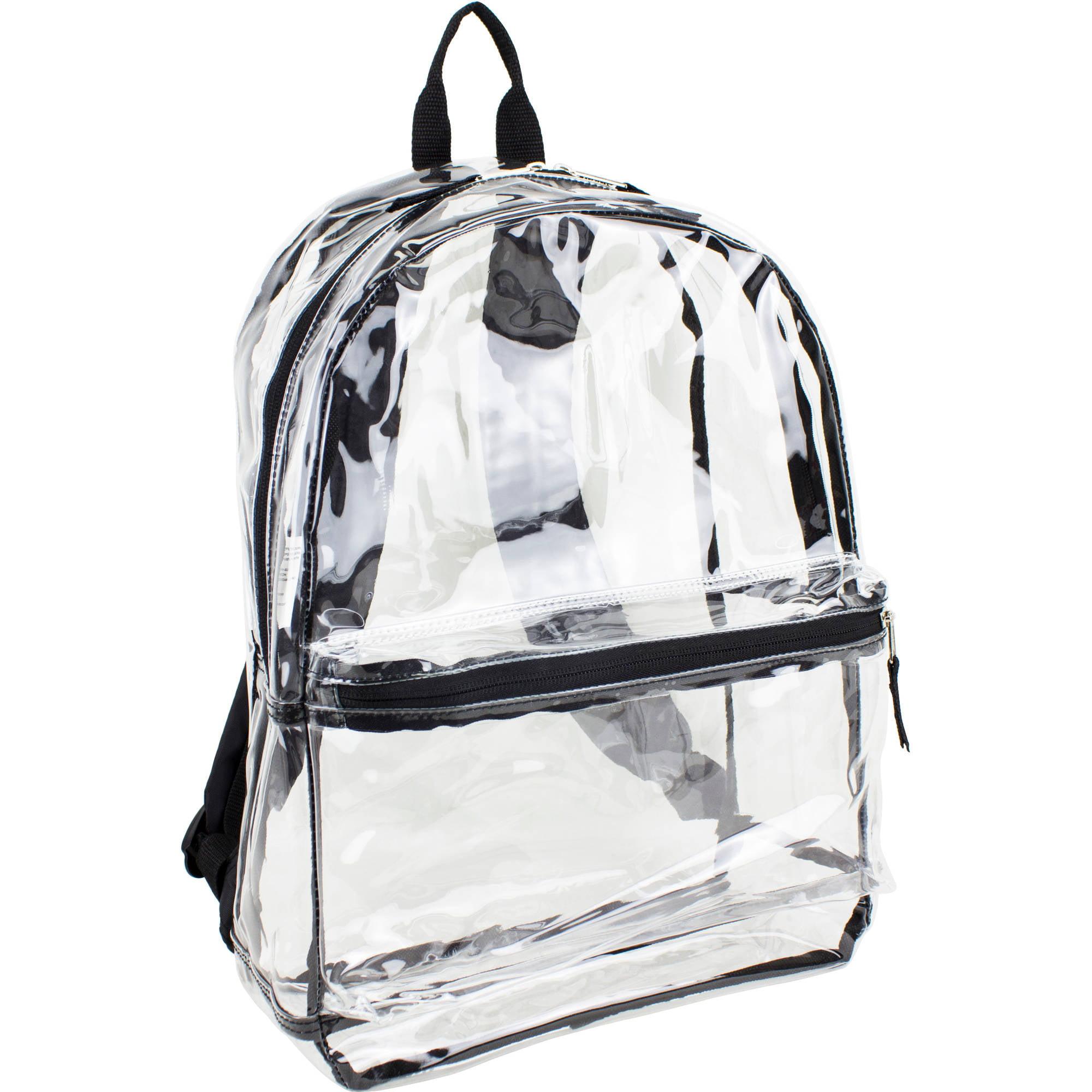 Eastsport Clear Backpack with Front Pocket and Adjustable Straps