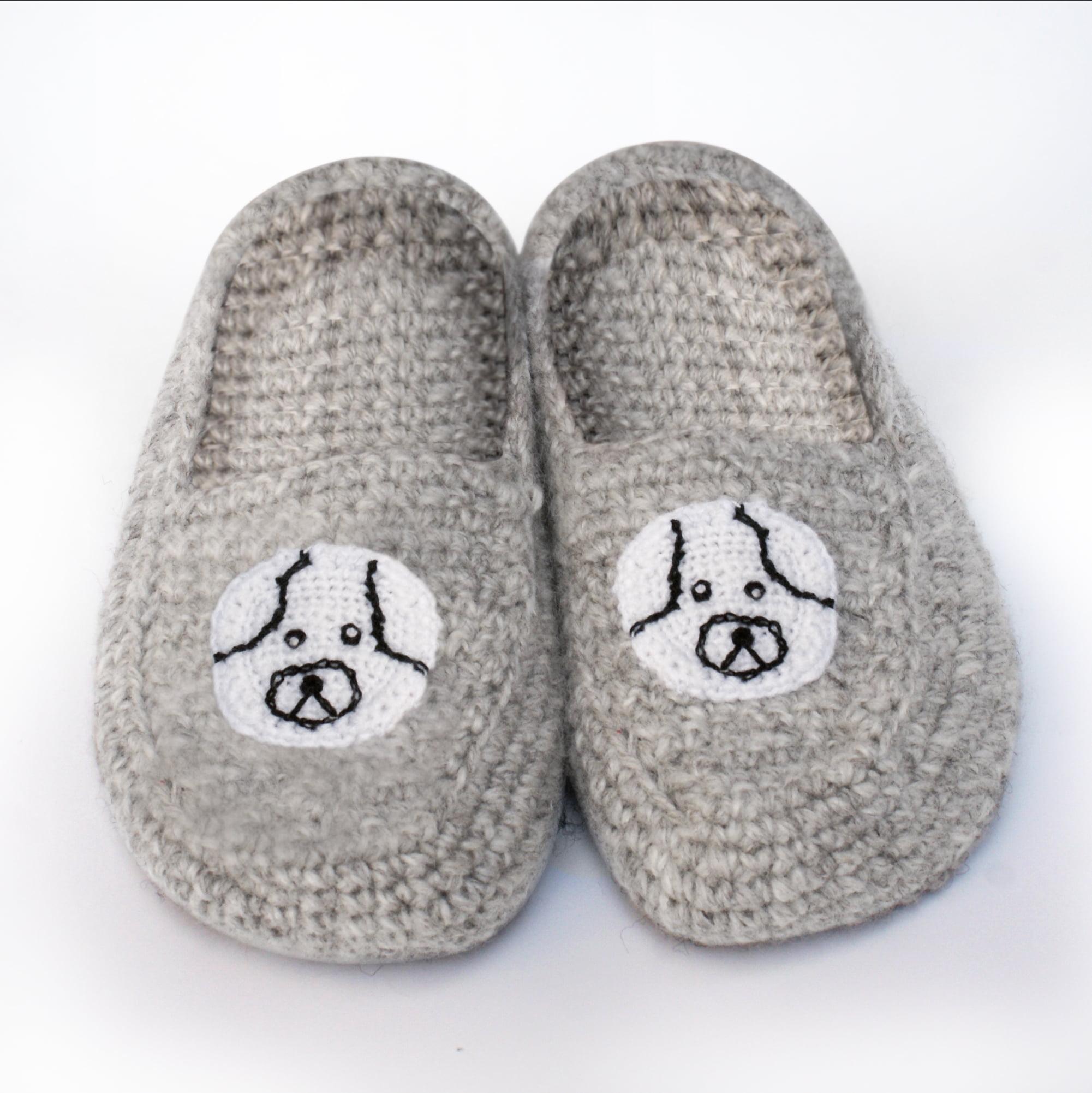 M US, Gray Medium // 7-8 B Details about  /Women/'s Comfort Woolen Yarn Woven Bootie Slippers