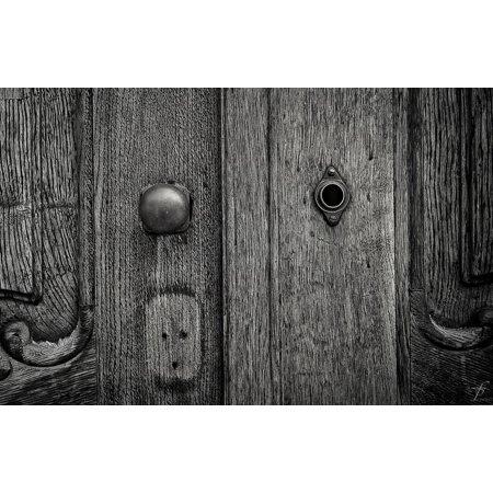 Framed Art for Your Wall Key Door Keyhole Doorway Design Lock Enter 10x13 Frame