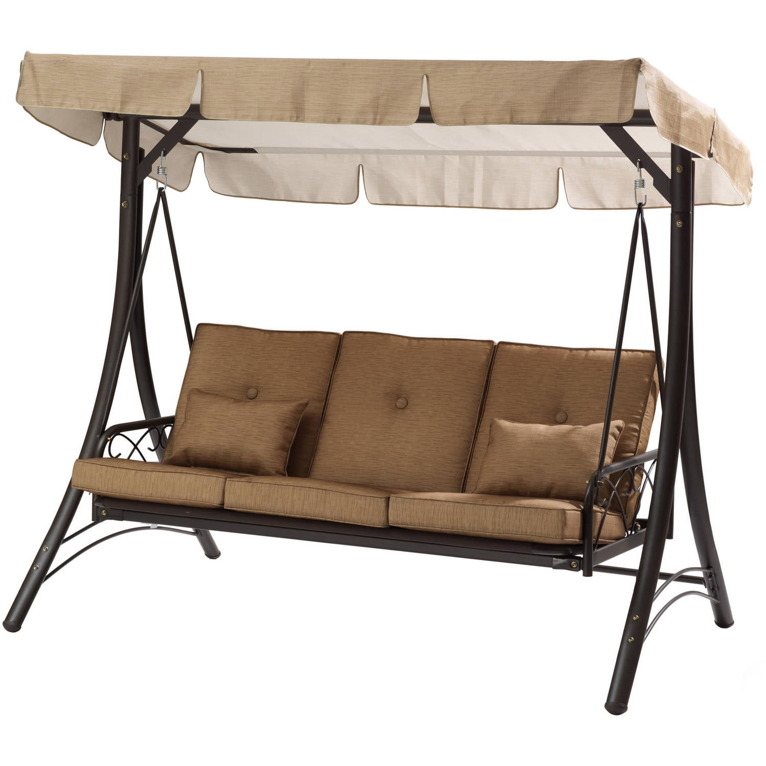 Mainstays Lawson Ridge Converting Outdoor Swing/Hammock, Seats 3    Walmart.com