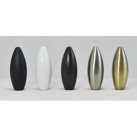 Smooth Pineapple Finials - Urbanest Urbanest Bullet Lamp Finial, 2