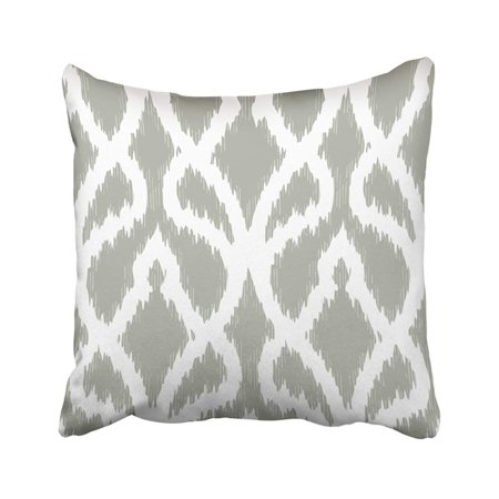 WOPOP Ikat Abstract Distressed Trellis Pattern Accessory All Bunting Graphic Interior Lines Over Pillowcase Pillow Cover 18x18 inches