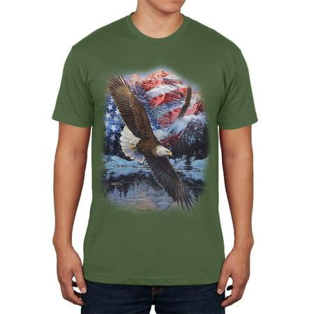4th Of July American Flag Bald Eagle Mens T Shirt