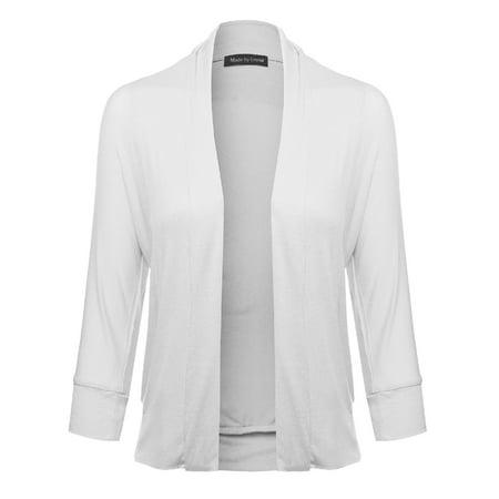 (FashionOutfit Women's Classic Stylish Comfortable Open Front Draped Cardigan)