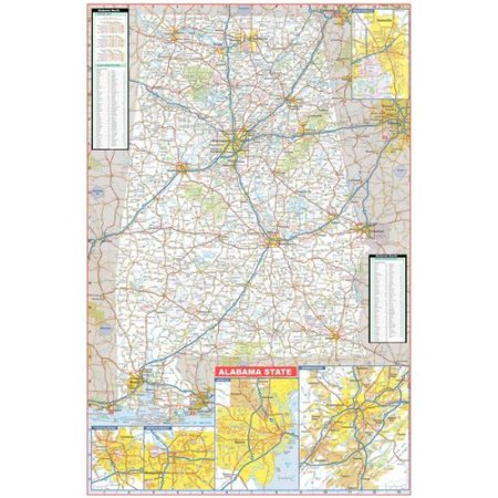 36x54 Alabama State Official Executive Laminated Wall Map