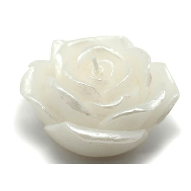 Zest Candle CFZ-067 3 in. White Rose Floating Candles -12pc-Box - image 1 of 1