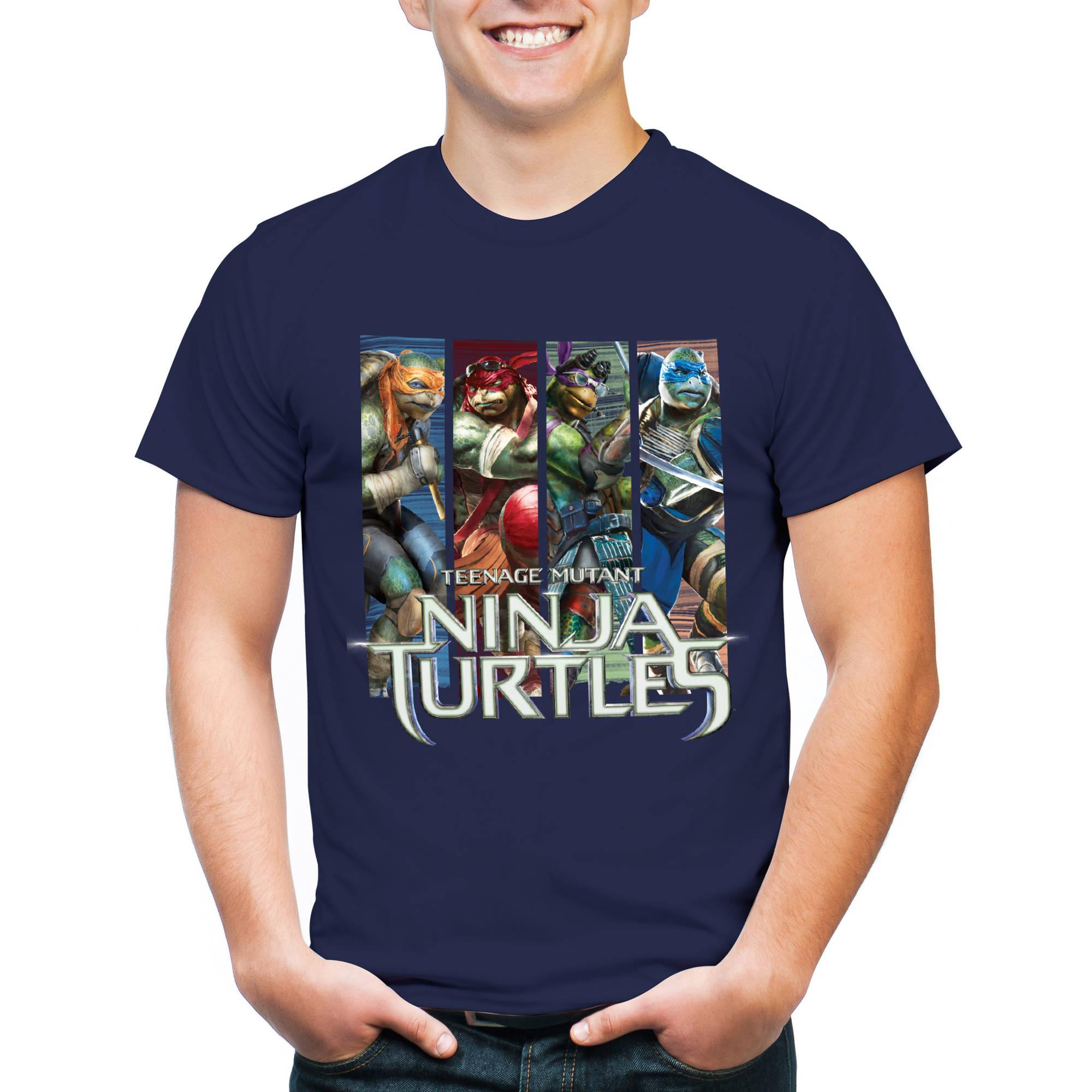 TMNT Ninja Turtles Men's Graphic Short Sleeve T-Shirt, 2XL