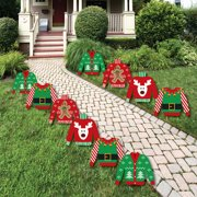 ugly sweater sweater lawn decorations outdoor holiday christmas yard decorations 10 piece - Christmas Lawn Decorations