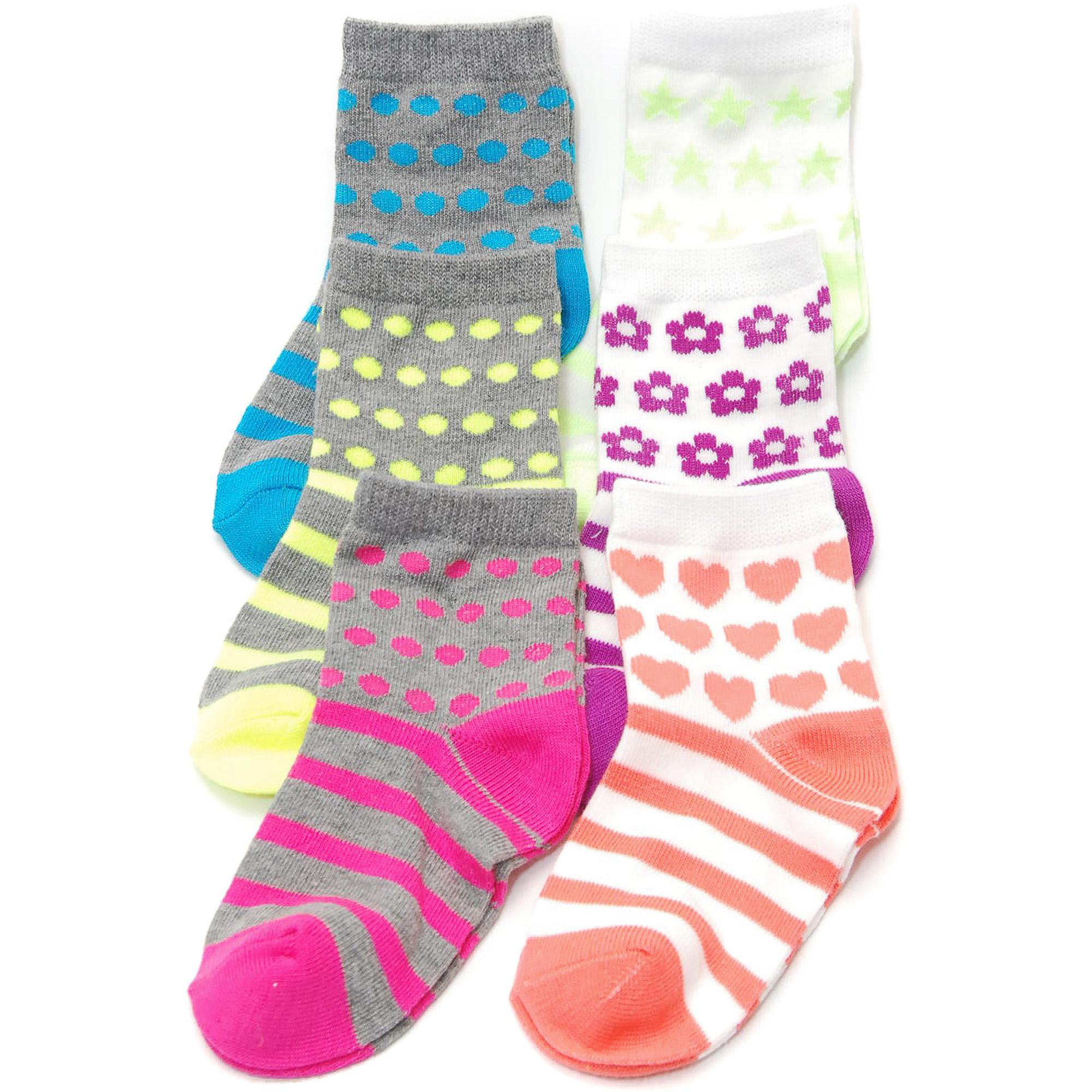 Garanimals Newborn Girl Assorted Socks, 6 Pairs