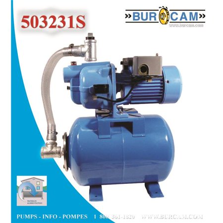 Bur-Cam Pumps 503231S .75 HP Shallow Well Jet Pump; Tank System- 80 Liters