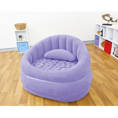 Cafe Inflatable Chair, Purple, Comfort of a beanbag with the support of your favorite chair By Intex by