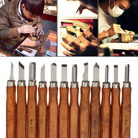 3/8/12Pcs Wood Carving Hand Chisel Tool Set Professional Woodworking Gouges Steel Set