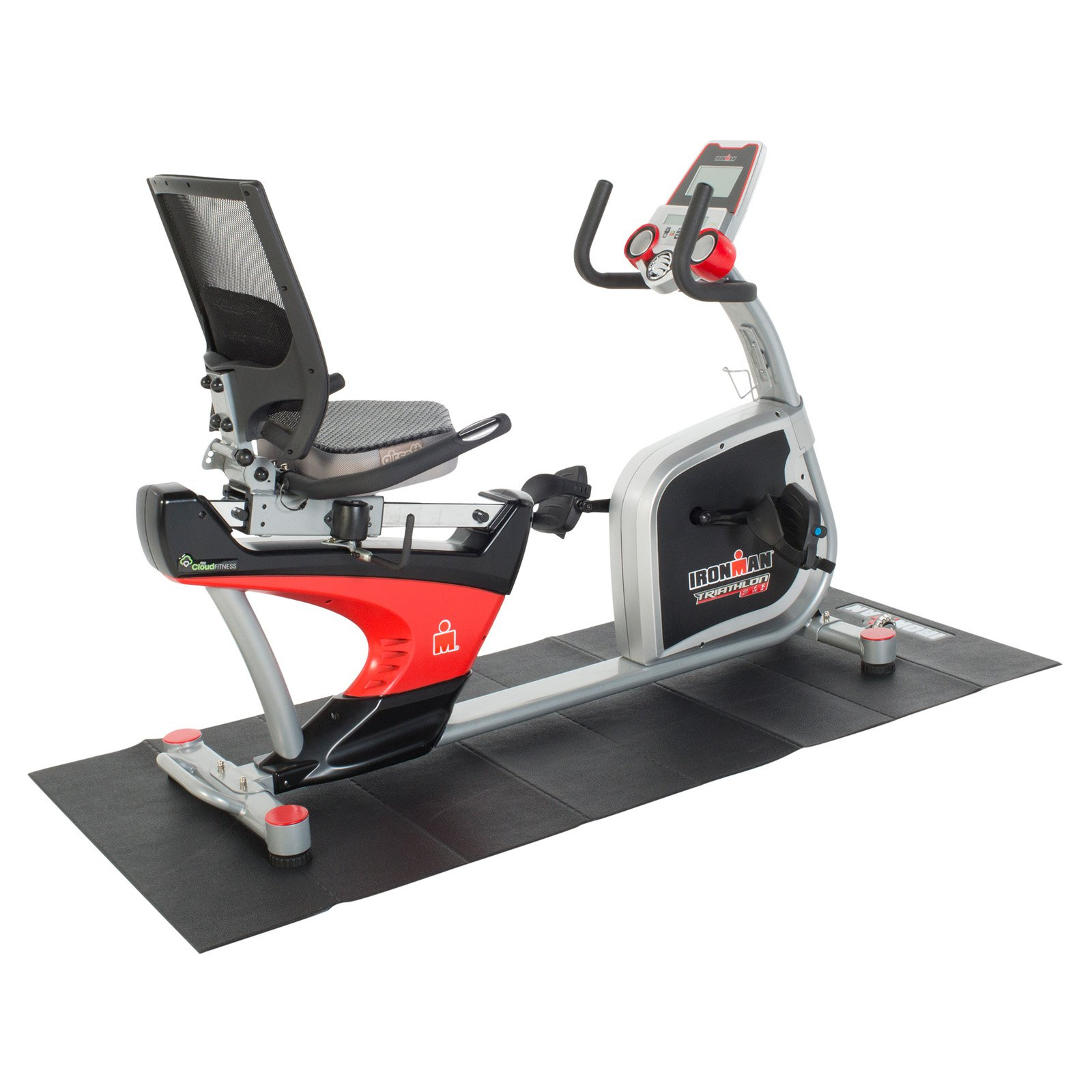 Ironman X-Class 410 Recumbent Bike with Accessories and Mat