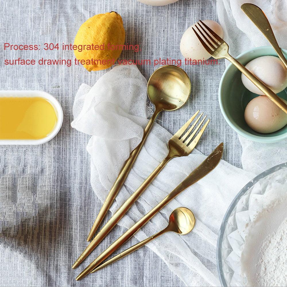 3in1 Rainbow Flatware Elite Decor Stainless Steel Cutlery Silverware Dinner New