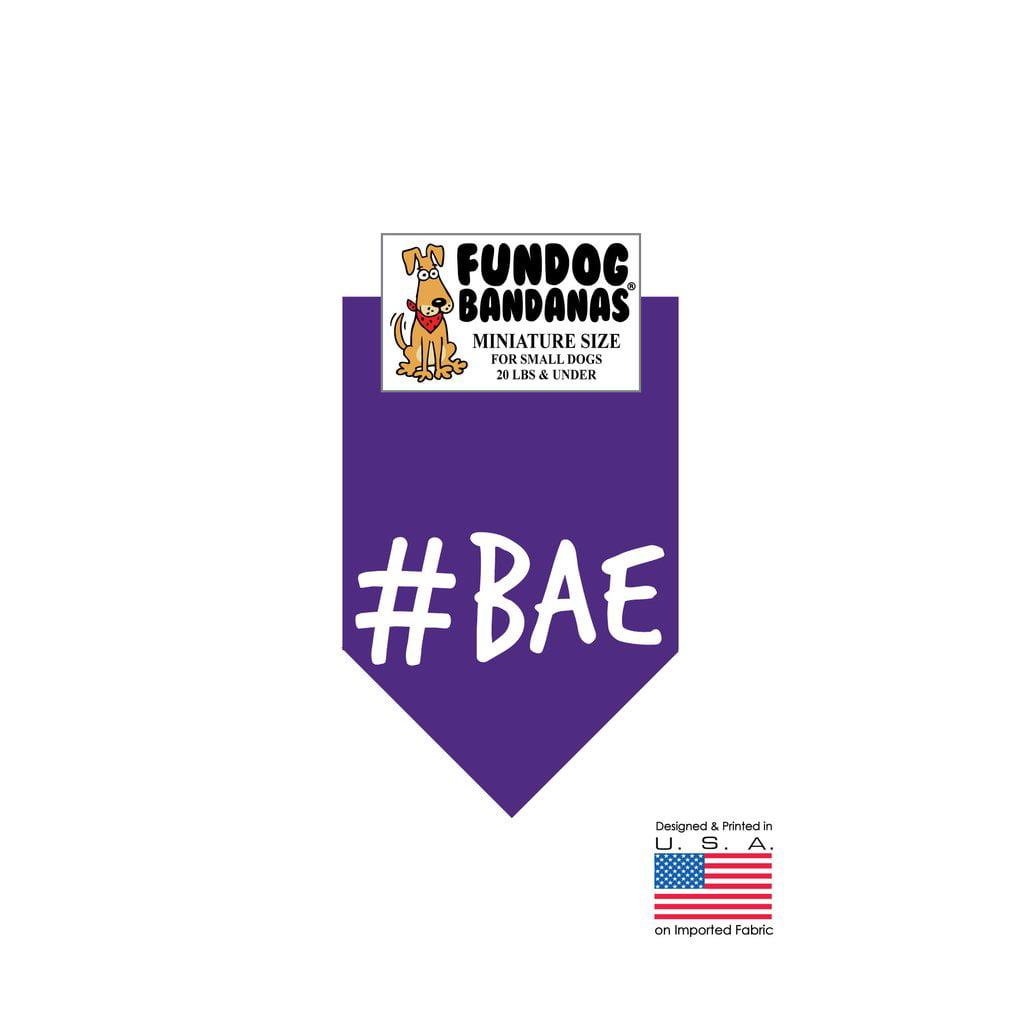 MINI Fun Dog Bandana - #BAE - Miniature Size for Small Dogs under 20 lbs, purple pet scarf