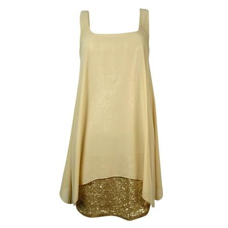 Image of Ali & Jay Women's 'Bella' Chiffon Overlay Sequined Dress