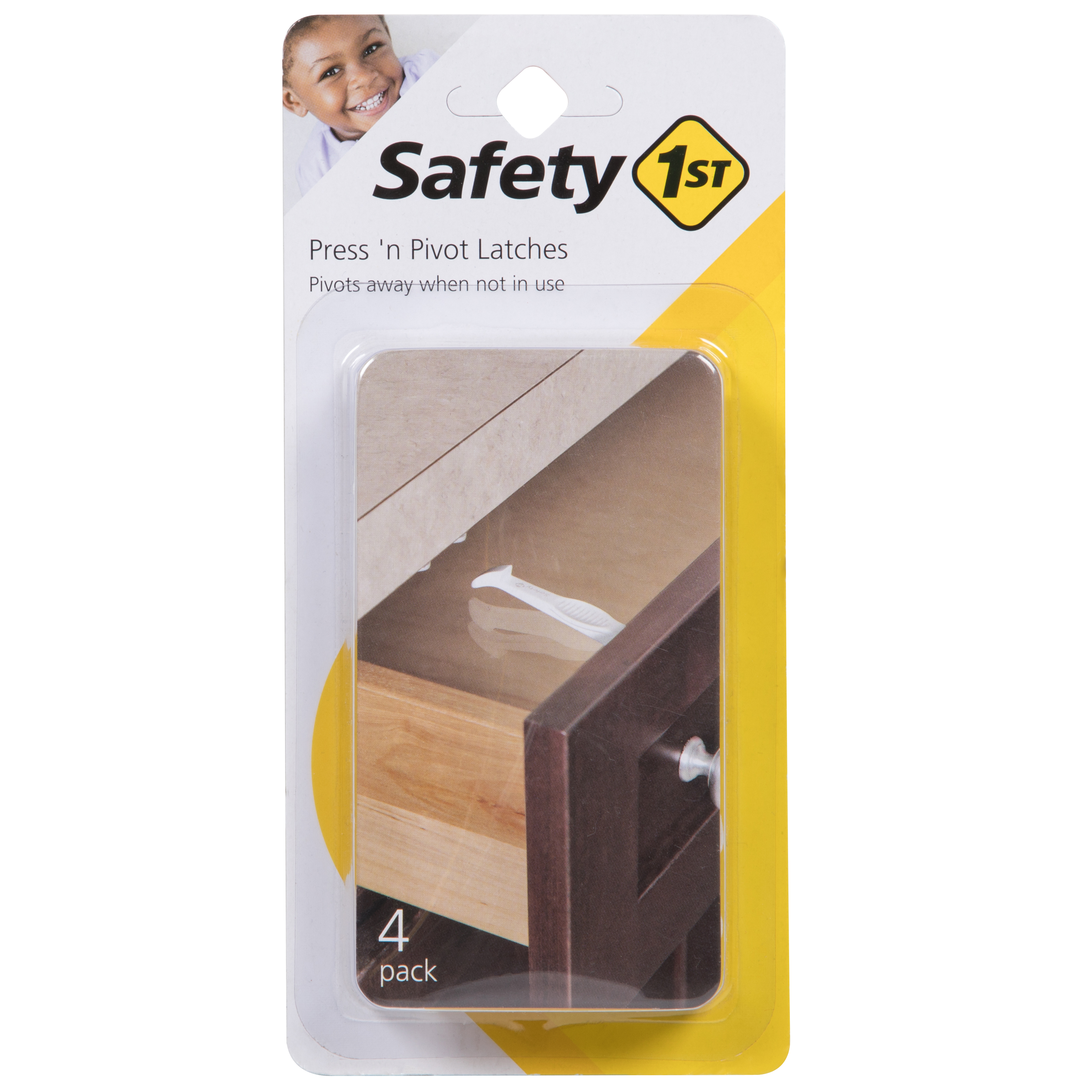 Safety 1st Easy To Grip Press 'n Pivot Latch, White