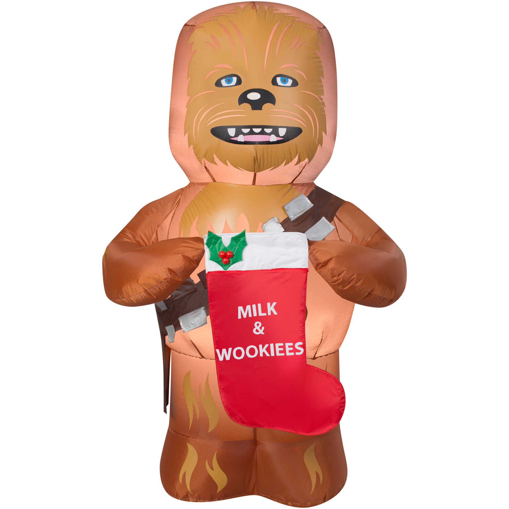Gemmy Airblown Inflatables Christmas Inflatable Chewbacca With Stocking, 5u0027