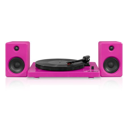 Victrola Modern design 50 watt Record Player with Bluetooth and 3 Speed Turntable