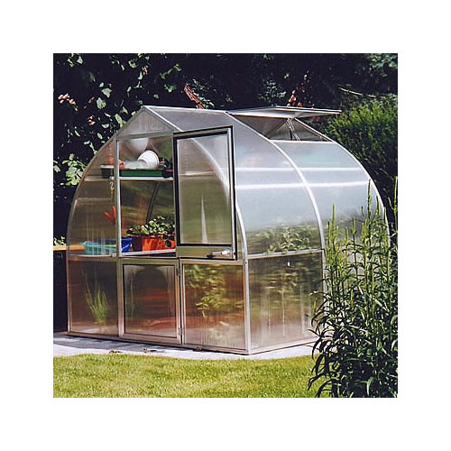 Bundle-09 Hoklartherm Riga IIs 7.5 Ft. W x 7 Ft. D Polycarbonate Greenhouse (5 Pieces)
