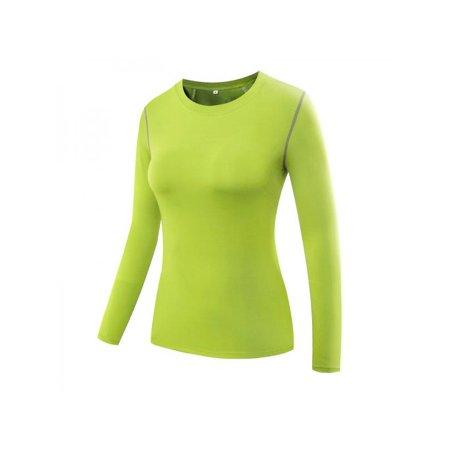 268e16176a3 Ropalia - Ropalia Women Compression Tops Long Sleeve Yoga Tight Tops Lady  Fitness Gym Workout Shirt Tee Tops T-Shirts - Walmart.com
