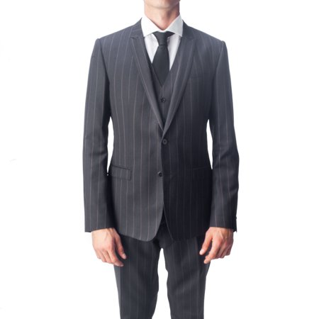 Dolce & Gabbana Wool Vest (Dolce & Gabbana Men's Virgin Wool 3-Piece Pinstripe Suit)