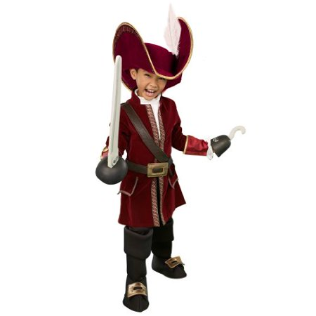 Disney Store Captain Hook Costume for Boys Size XS 4 - Disney Store Costumes For Boys