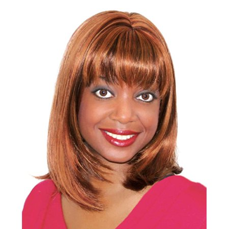 Fashion women medium straight E JOLA professional wig](Cheap Black Wigs)