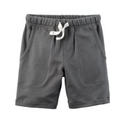 Carter's Boys' French Terry Shorts - Charcoal Grey- 4T
