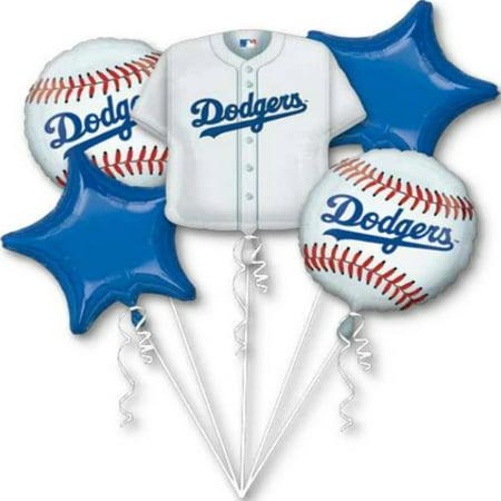 Dodgers Los Angeles Baseball Theme Foil Balloon Bouquet](Dodger Party Supplies)