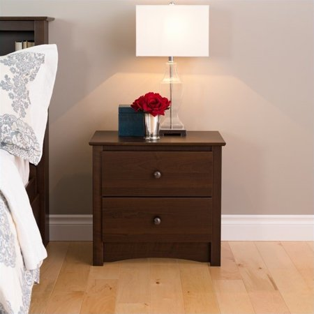 Edenvale 2-Drawer Nightstand, Espresso - Prepac Furniture