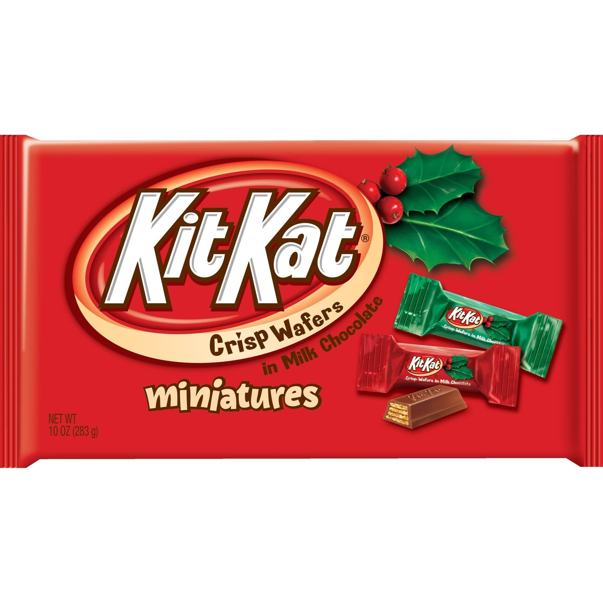 Kit Kat�� Holiday Miniatures Christmas Candy, 10 oz