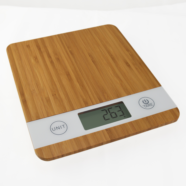 Smart Weigh Designer Bamboo Digital Kitchen Food Scale Bake Diet 11lbs x 0.1oz