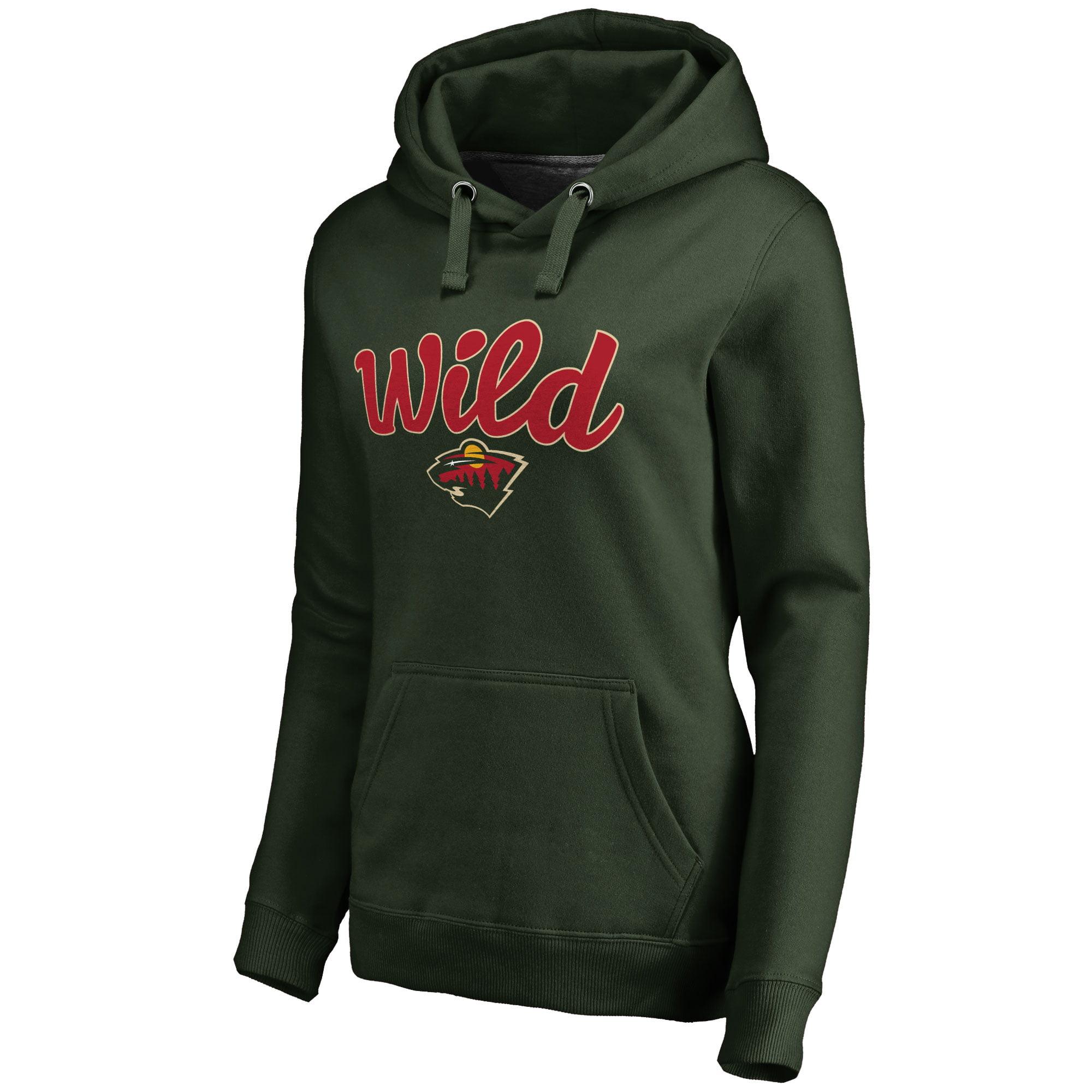Minnesota Wild Women's Free Hand Pullover Hoodie - Green