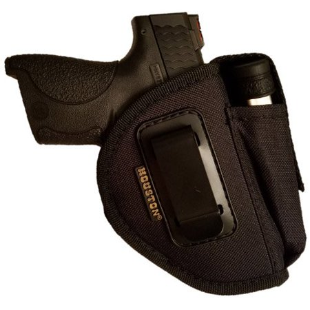 Nylon Ambidextrous Gun + Mag Holster by Houston | IWB and Outside | Fits: Compact Guns like Glock, Shield, XDS, Taurus, Walther, Beretta,H&K c, SR9 | Medium Fit with lined inside for Gun protection