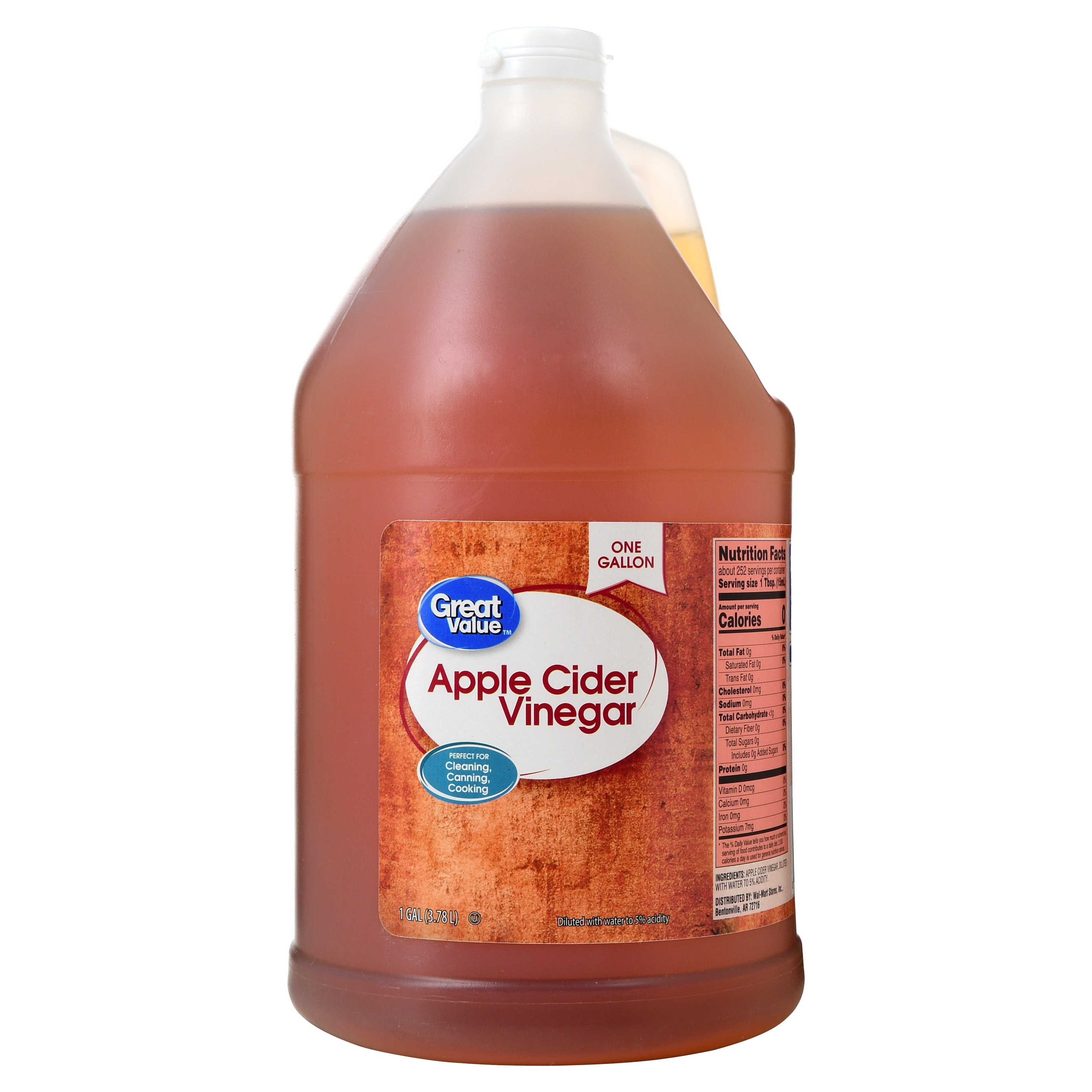 Great Value Apple Cider Vinegar, 128 oz