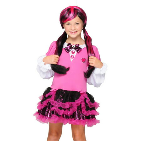 Monster High Pink Dress Child Halloween - Homemade Monster High Costume