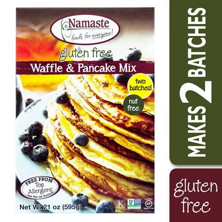 Namaste Foods Gluten Free Waffle & Pancake Mix, 21