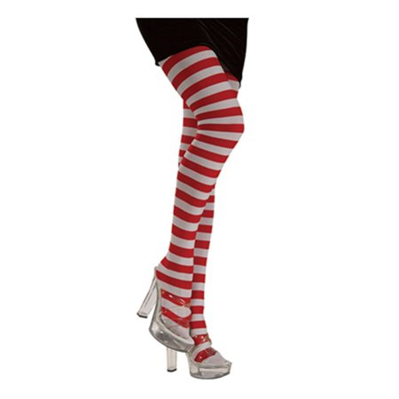 Womens  Red and White Striped Candy Striper Costume (Women's Striped Tights)