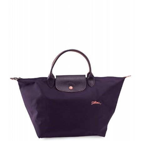 Longchamp Women's Le Pliage Navy Blue Top Handle Medium Tote (Longchamp Tote Navy)