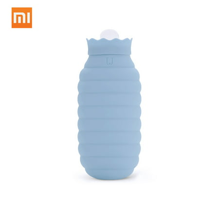 Xiaomi Hot Water Bag Microwave Heating Silicone Bottle Winter With Knitted Cover Hand Warmer Hot Water Bottle 313/620ml For Girls