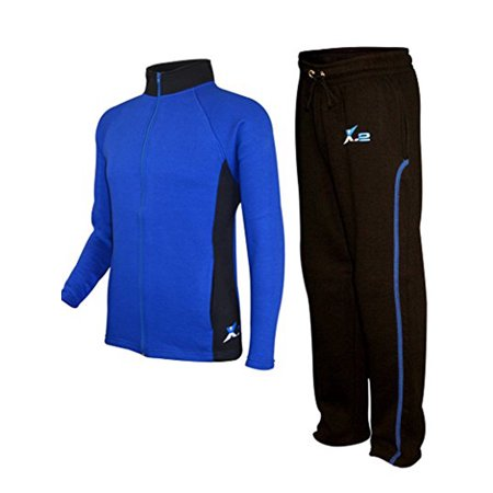 Mens Athletic Activewear Full Zip Fleece Color Tracksuit Jogging Sweatsuit Mens Athletic Active Jacket