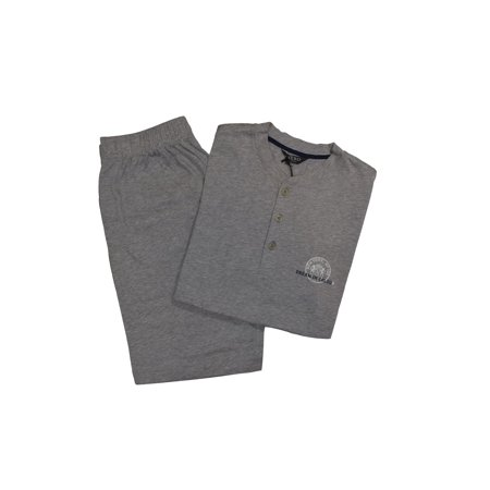 Nero Perla Gray Cotton Pajama Set S