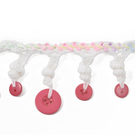 Expo Int'l Crochet Spiral Button Fringe Trim by the yard (Crochet Button)